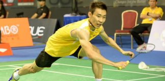 Lee Chong Wei will face Simon Santoso from Indonesia in the Singapore Open Final