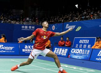 Lin Dan defeated Hsu Shao Wen in the second round of China Masters Badminton GP