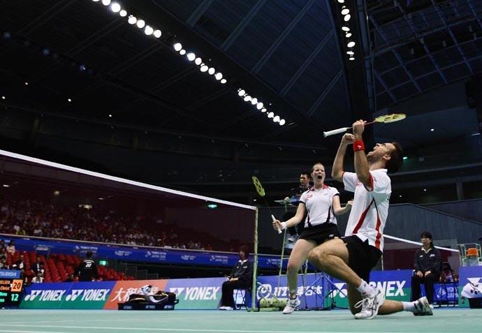 Joachim Fischer Nielsen and Christinna Pedersen beat Mads Pieler Kolding and Kamilla Rytter Juhl in the mixed double finals.