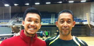 Misbun Ramdan hopes to continue his family legacy where his father Misbun Sidek (right), and all his uncles had played for Malaysia's Thomas Cup squad during the 80's and 90's.