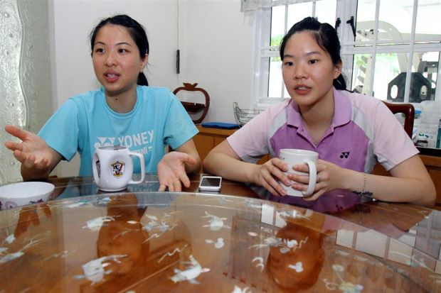 Ng Hui Lin and Ng Hui Ern remain positive despite not playing in the Uber Cup