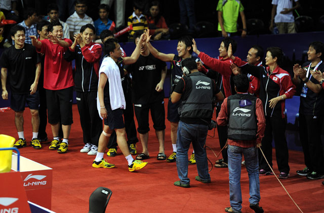 Kento Momota sealed the last point for Japan's 3-0 win over China in the Thomas Cup semi-finals.