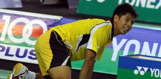 Arif used to be the number four men's singles in Malaysia after Lee Chong Wei, Chong Wei Feng and Liew Daren