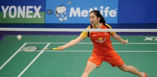 Wang Shixian together with her boyfriend - Chen Long are both in the semi-finals of Indonesia Open