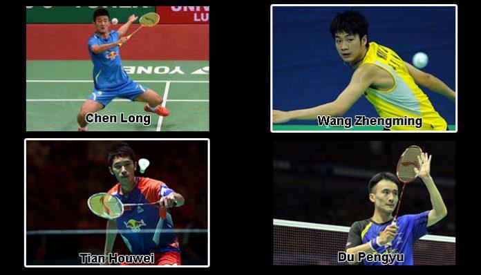 The fantastic four of China - Chen Long, Wang Zhengming, Tian Houwei, Du Pengyu