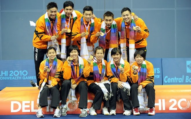 Special moments and great memories for the Malaysia team at the 2010 Commonwealth Games
