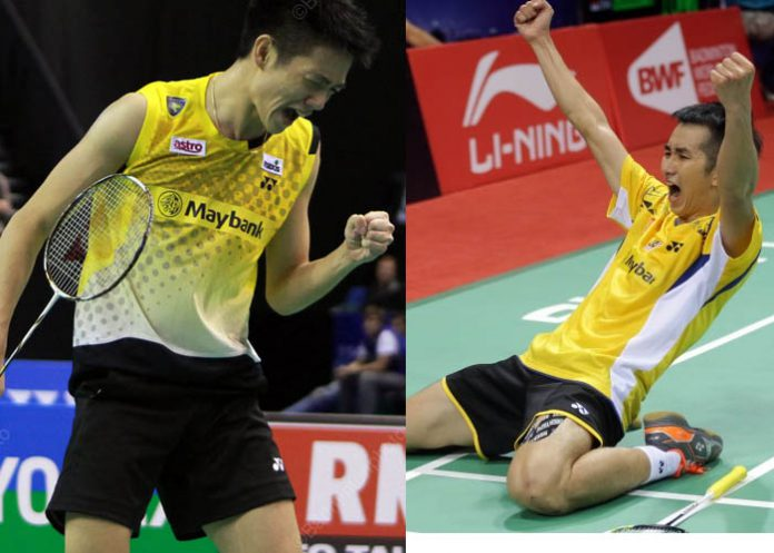 Daren Liew (left) and Chong Wei Feng have to step up in Glasgow after losing Lee Chong Wei