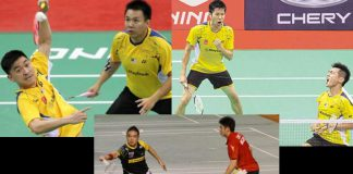 Possible partnerships: Tan Boon Heong-Hoon Thien How (top left), Goh V Shem-Tan Wee Kiong (top right), Lim Khim Wah - Ow Yao Han (bottom)