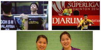Good luck to Goh Soon Huat (top left),Iskandar Zainuddin (top right), Ng Hui Lin (bottom right)!