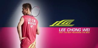 Lee Chong Wei's pink limited edition gear