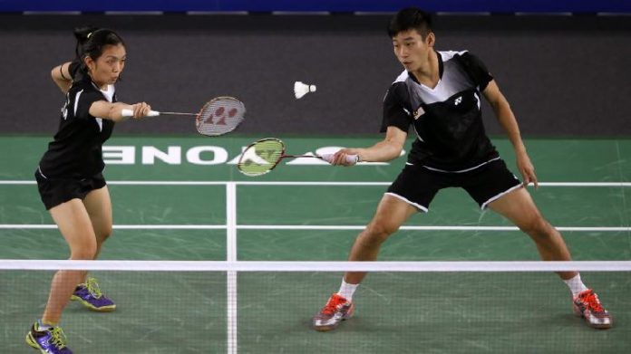 Lai Pei Jing (left) and Chan Peng Soon in Glasgow Commonwealth Games