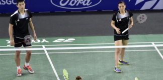 Chan Peng Soon-Lai Pei Jing was defeated by Chris Langridge-Heather Olver of England in the mixed doubles semi-final