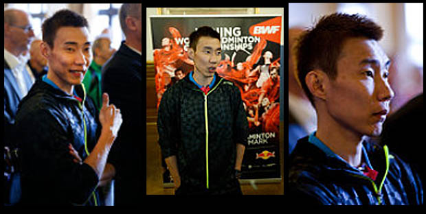 Lee Chong Wei at the opening ceremony of World Championships in Copenhagen
