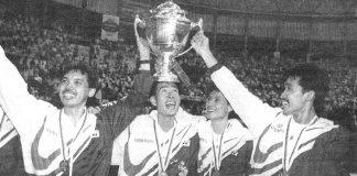 Rashid Sidek plays major role in Malaysia's 1992 Thomas Cup victory.