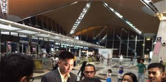 Tan Boon Heong speaks to media before departing for Incheon