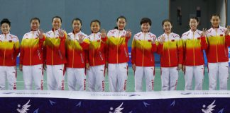 China women's team wins its fifth consecutive Asian Games gold medal