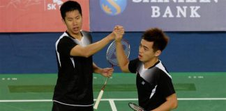 Goh V Shem-Tan Wee Kiong (right) face a tough test in the quarter-finals