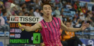 Lee Chong Wei is keeping a steady pace in the Asian Games men's singles event