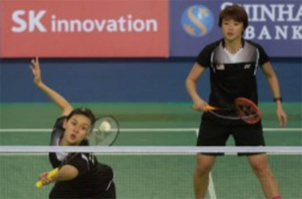 Congratulations to Vivian Hoo (right) and Woon Khe Wei for winning the Asian Games women's doubles bronze medal
