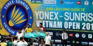 Rumbaka and Prannoy on the podium at 2014 Vietnam Open GP