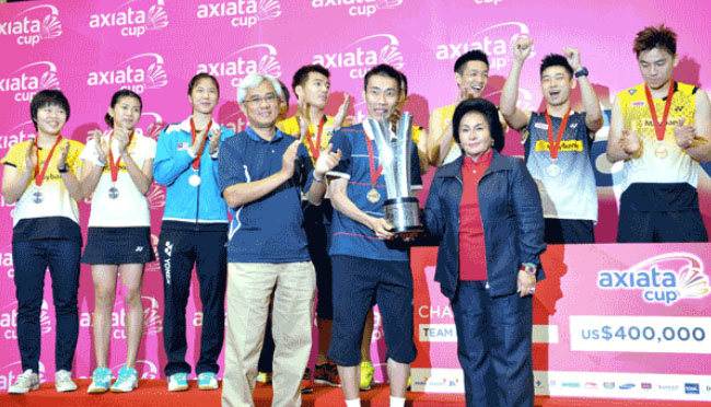 The World No 1 Lee Chong Wei guided Malaysia to a 3-1 Axiata Cup win over Thailand in 2013.