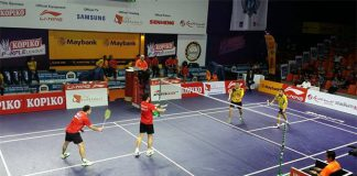 Playing with Hendra Setiawan (red shirt, right) would be beneficial to the other Malaysian players