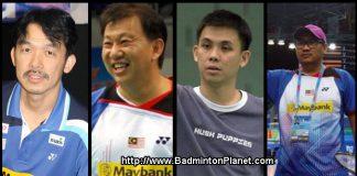 Rashid Sidek,Tey Seu Bock, Pang Cheh Chang, Rosman Razak (from left to right)