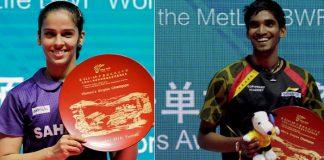 Saina Nehwal, K Srikanth win China Open titles