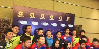 Lee Yong-Dae (back row, third right) and other Muar City players (photo: Purple League)