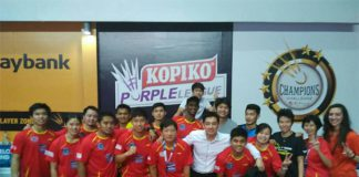 Congratulations to Kajang BC and Liliyana Natsir (third from the right) for the win on Wednesday (photo: Kajang BC)