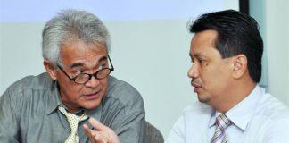 Badminton Association of Malaysia president Tengku Mahaleel Tengku Arif (left) and his deputy, Datuk Norza Zakaria
