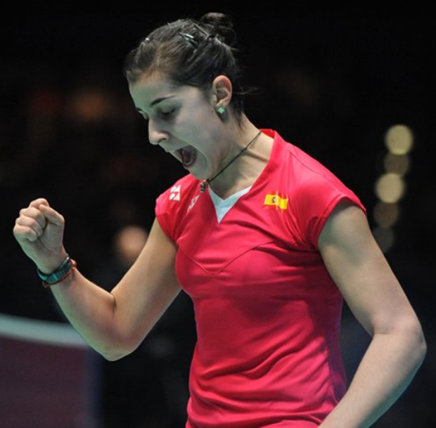 Carolina Marin shows tremendous stamina and agility to outrun Saina Nehwal in the 2015 All England final.