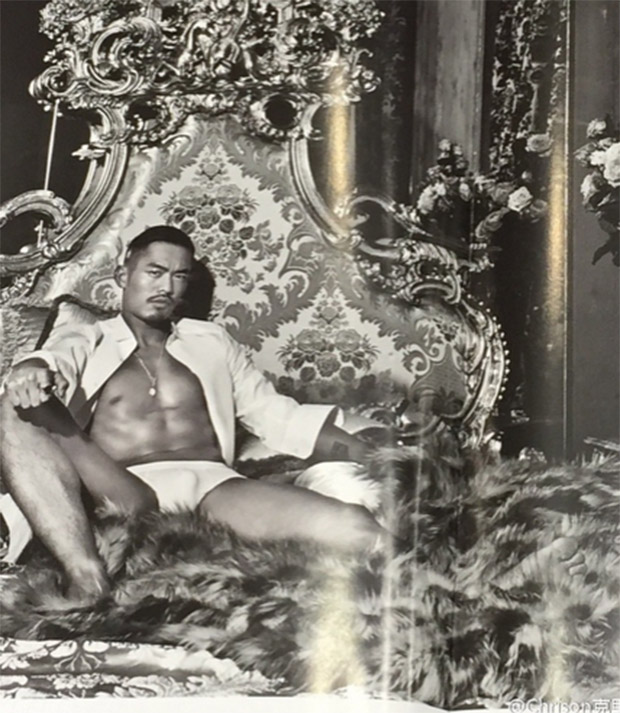 Lin Dan gets sexy for Dolce & Gabbana. Someone hand me a tissue, I am nose bleeding! (photo: Dolce & Gabbana)