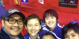 Coach Rosman should be proud of Vivian Hoo-Woon Khe Wei and Amelia Alicia Anscelly/Soong Fie Cho's performances on Day 1 of Malaysia Open (photo: Rosman Razak's FB)