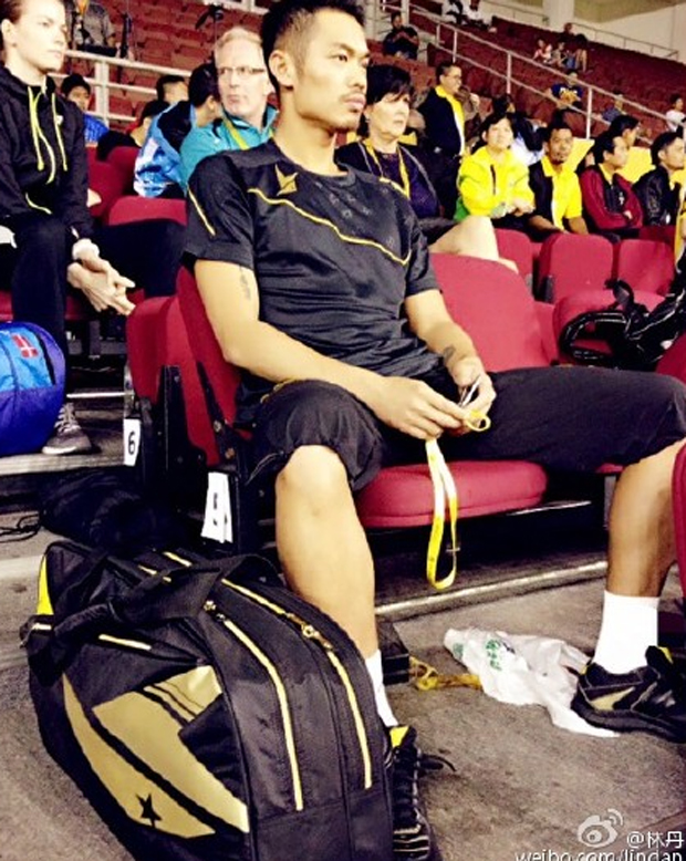 Without Lee Chong Wei, Lin Dan has a high chance of winning this year's Malaysia Open.(photo: Lin Dan's weibo)