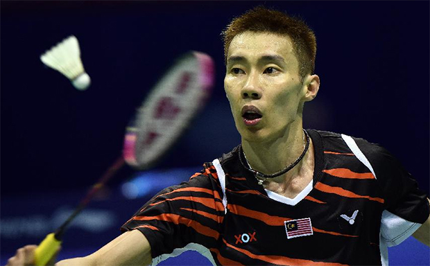 Lee Chong Wei in action at the 2015 Sudirman Cup. (photo: Reuters)