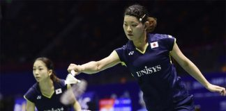 Misaki Matsutomo/Ayaka Takahashi seal the winning point for Japan at the 2015 Sudirman Cup quarter-finals.