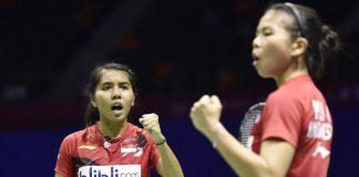 Nitya Krishinda Maheswari and Greysia Polii clinch the victory for Indonesia on Friday.