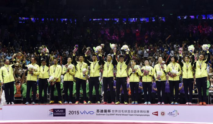 China win their 10th Sudirman Cup over the tournament's 27 year history.