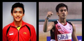 Jonatan Christie (left) and Firman Abdul Kholik are two young players with huge potential.