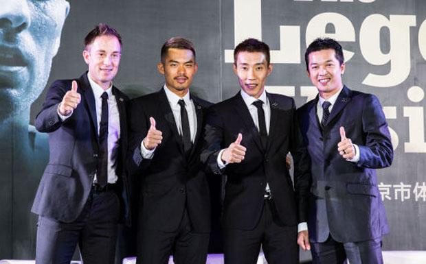 The so-called 4 Heavenly Kings of Badminton - Peter Gade, Lin Dan, Lee Chong Wei, Taufik Hidayat (from left)