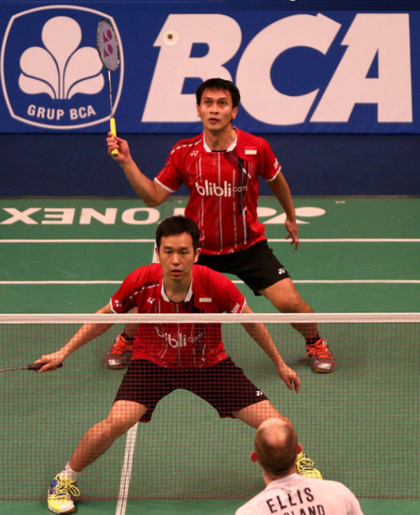 Mohammad Ahsan (back) and Hendra Setiawan are hoping for a good result at Indonesia Open
