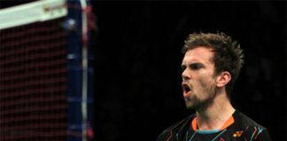 Jan Jorgensen on course to defend Indonesia Open crown.