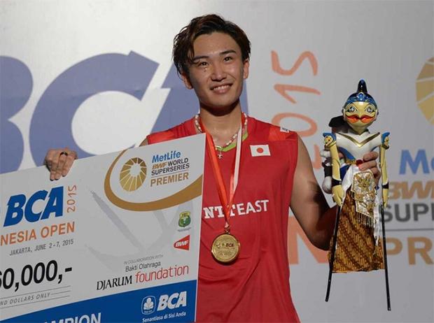 Kento Momota makes big strides with Indonesian Open title.