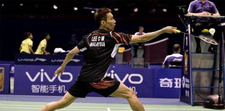Lee Chong Wei always very calm on the badminton court.
