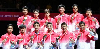 The promising young Indonesian team won men's team gold at the SEA Games. (photo: PBSI)