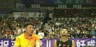 """Lin Dan expressed his """"disappointment"""" at the China Badminton Super League's sponsor."""
