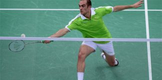 Ireland's Scott Evans is seen as one of the favourites for gold in the men's singles Badminton tournament at the Baku 2015 Games.