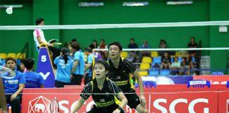 Goh Jin Wei (front) and Tan Jinn Hwa enjoy a good opening day at Asia Junior Championship. (photo: Granular)