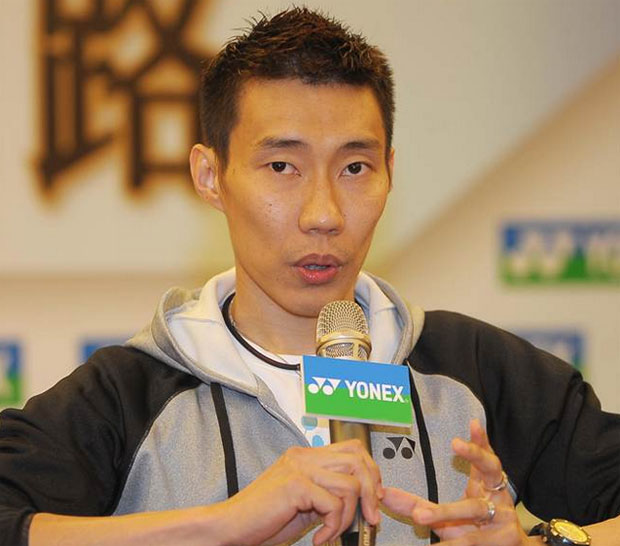 Lee Chong Wei speaks to the media during a press conference at Chinese Taipei Open on Tuesday. (photo: Reuters)